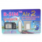 R-sim Air2 0.2mm låse opp SIM-kortet med SIM Card-kort for IPHONE 4S / 5S / 5C (iOS 5.0 ~ 7.1)