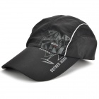 Outdoor Baseball Quick-Dry Dacron Mesh Cap Hat - Black
