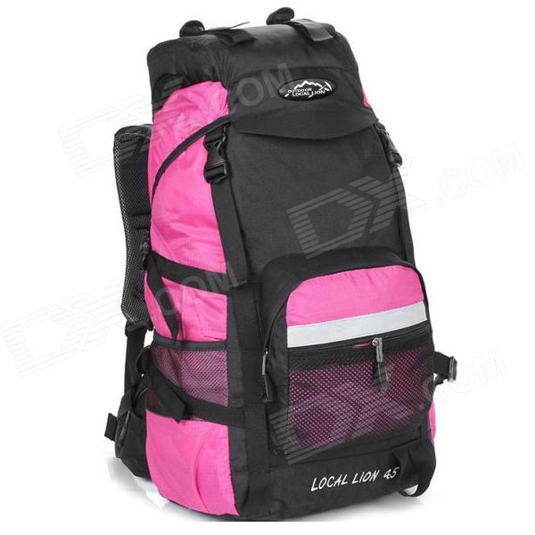 LOCAL LION Outdoor Travel Nylon Backpack Bag - Pink + Black (45L) modern sconce lighting wall mounted bedside reading light creative wall lamp living room foyer home lighting rustic wall sconce