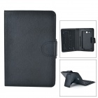 USB 2.0 Bluetooth V3.0 77-Key Keyboard w/ PU Case for Samsung Galaxy Tab 3 Lite T110 - Black