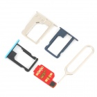 Unlock SIM Card w/ SIM Card Adapters for IPHONE 4S / 5 / 5S / 5C (iOS7.0.2 / 7.0 / 6.1.4) - Red
