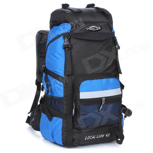 LOCAL LION Outdoor Travel Nylon Backpack Bag - Light Blue + Black (45L) dk eyewitness top 10 travel guide scotland