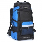 LOCAL LION Outdoor Travel Nylon Backpack Bag - Light Blue + Black (45L)