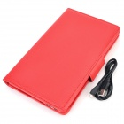 Protective PU Case w/ Detachable USB Bluetooth V3.0 59-Key Keyboard for Samsung Tab Pro T320 - Red