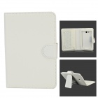 USB 2.0 Bluetooth V3.0 77-Key Keyboard w/ PU Case for Samsung Galaxy Tab 3 Lite T110 - White