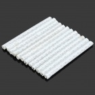 12-P Bike Reflective Warning Spoke Clips Stripe - White (12 PCS)