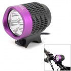TrustFire 3-LED 3-Mode 1100LM Cool White Light Bike Light - Grey + Purple (2.8~4.2V)