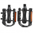 Aluminum Alloy Bike Pedals w/ Reflective Strip - Black (2 PCS)
