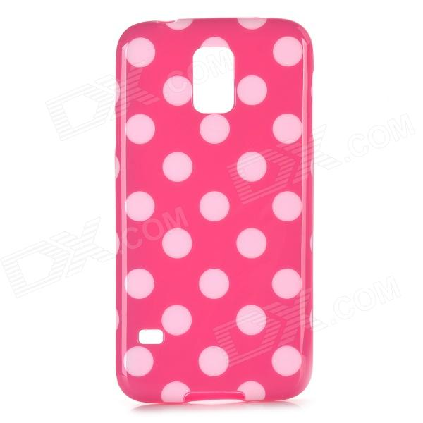 Sweet Polka Dot Pattern Plastic Back Case for Samsung S5 - Deep Pink + White cartoon rabbit pattern plastic back cover case for huawei p6 white deep pink