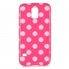 Sweet Polka Dot Pattern Plastic Back Case for Samsung S5 - Deep Pink + White