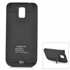 3500mAh Rechargeable Li-ion External Battery Power Case w/ Stand for Samsung Galaxy S5 - Black
