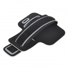 Universal Elastic Cotton + Neoprene Armband for Samsung Galaxy S5 / HTC One M7 - White + Black