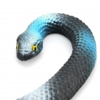 ZGHS002 Practical Joke Snake Shaped Toy - Blue + Deep Grey