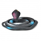 YJWS001 Cool King Cobra Shaped Practical Joke Toy - Black + Blue