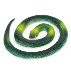 ZGQS003 Practical Joke Snake Shaped Rubber Toy - Dark Green + Blackish Green + Multi-Colored