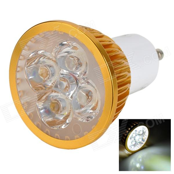 JRLED JR-LED-GU10-4W-W GU10 350lm 6300K 4-LED White Light Spotlight - Golden + White (AC 85~265V) jrled gu10 5w 330lm 6500k white light led spotlight lamp silver white ac 85 265v 5pcs