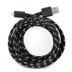 USB 2.0 Male to Micro USB Male Data Cable for Samsung P5200 / P3200 + More (290cm)