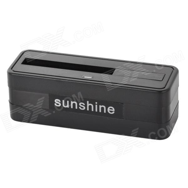 Sunshine Portable Battery Charging Station for Samsung Galaxy S5 - Black charging docking station w usb data charging cable for samsung galaxy note i9220 black