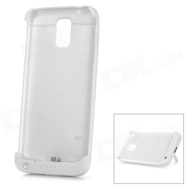 5V 3200mAh Li-polymer Battery External Power Bank Case for Samsung Galaxy S5 - White 3200mah floureon li polymer battery case