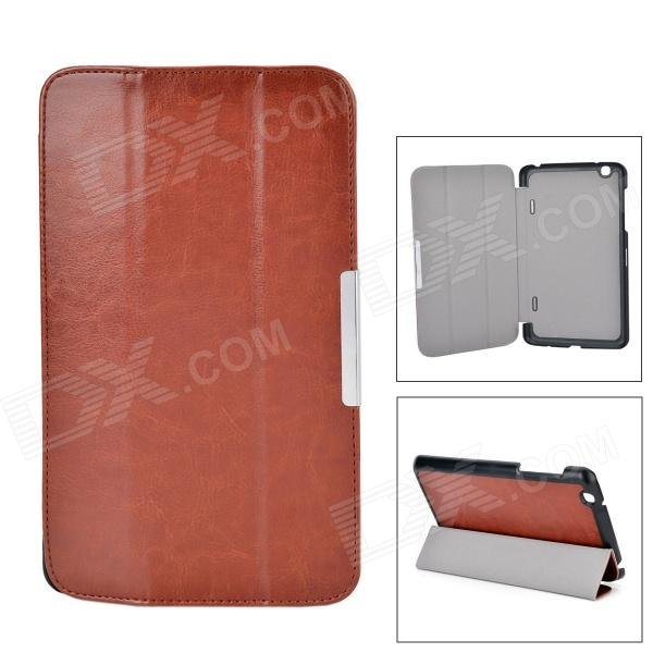 PU Leather 3-Fold Protective Flip Open PU Case w/ Stand / Auto Sleep Function for LG-PAD 8.3 V500