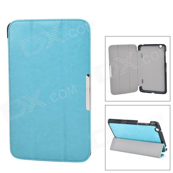PU Leather 3-Fold Protective Flip Open PU Case w/ Stand / Auto Sleep Function for LG-PAD 8.3 V500 - DXTablet Cases<br>Color Light Blue Brand N/A Quantity 1 Piece Shade Of Color Blue Material PU Compatible Brand OthersLG Compatible Size Others8.3 Style Business Type Cases with StandLeather Cases Packing List 1 x Case<br>