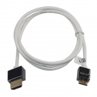 TOP-FLIGHT TOP-DM-018 High Speed HDMI V1.4 A Male to Mini Male Fine Flat Cable - White (103cm)