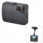 "ZEA-MD334 1080 FHD Car DVR w/ 2.0"" Resistive Screen / Camera / TF / Micro USB / Mic. - Black"