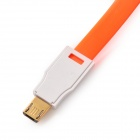 USB to Micro USB Magnetic Data / Charging Flat Cable for Samsung / Xiaomi / HTC / Nokia - Orange