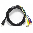 Gold Plated HDMI to Component Video+Audio 5-RCA Cable (1.6M-Length)