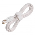 USB to Micro USB Magnetic Data / Charging Flat Cable for Samsung / Xiaomi / HTC / Nokia - White