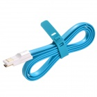 USB to Micro USB Magnetic Data / Charging Flat Cable for Samsung / Xiaomi / HTC / Nokia - Blue