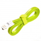 USB to Micro USB Magnetic Data / Charging Flat Cable for Samsung / Xiaomi / HTC / Nokia -Grass Green