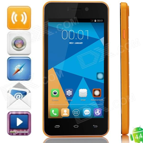 DOOGEE VALENCIA DG800 Quad-Core Android 4.4.2 Bar Phone w/ 4.5 IPS, Back Touch, GPS, OTA - Orange оправа valencia оправа valencia 32014 с6