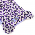 Leopard Pattern Protective Plastic Back Case w/ Tail for Samsung Galaxy Note 2 N7100 - Purple