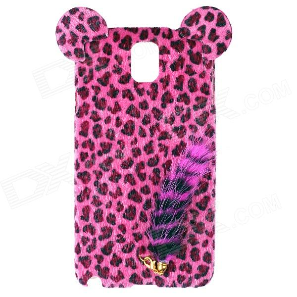 все цены на Leopard Pattern Protective Plastic Back Case w/ Tail for Samsung Galaxy Note 3 N9006 - Deep Pink онлайн