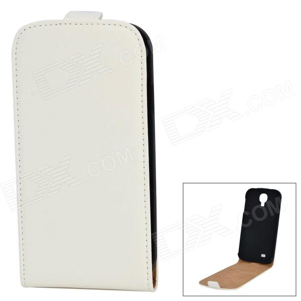Protective PU Leather Top Flip-Open Case for Samsung Galaxy S4 i9500 - White
