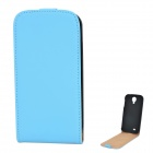 Protective PU Leather Top Flip-Open Case for Samsung Galaxy S4 i9500 - Blue