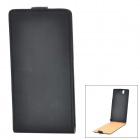 Protective PU Leather Top Flip-Open Case for Sony Xperia Z L36h - Black