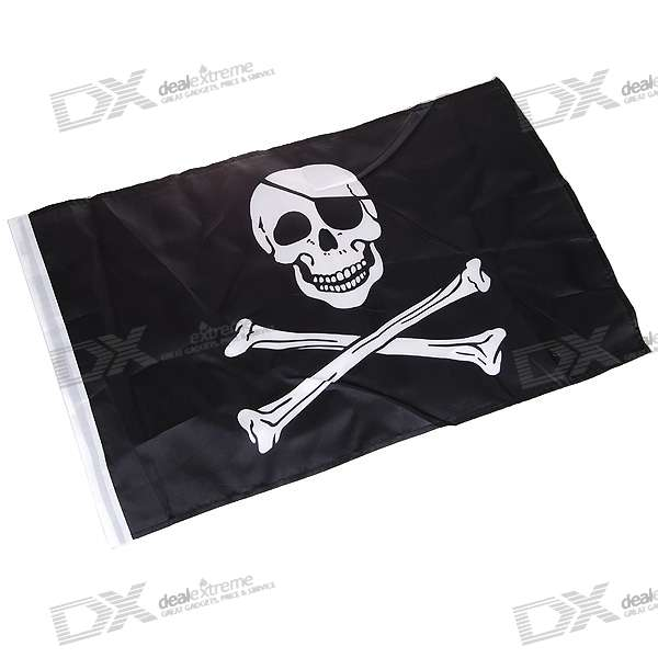 Jolly Roger Pirate Skull and Crossbones Flag (47CM*30CM)