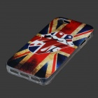 UK Flagg Graffiti Mouth Protected PVC Back Case för IPHONE 5 / 5S - Vit + Röd + Multicolor