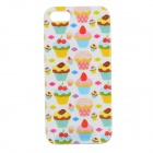 Graffiti Cake Pattern Protective PVC Back Case for IPHONE 5 / 5S - White + Red + Multi-Colored