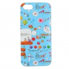 Graffiti Pattern Protective PVC Back Case for IPHONE 5 / 5S - Blue + Red + Multi-Colored