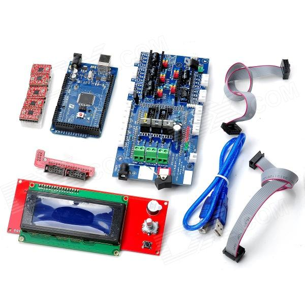 3D RAMPS 1.4 3D Printer Ultimaker V1.5.7 Control Board + 2004 LCD Control Board + F2560 R3 Board Set funduino 3d 2560 r3 main control panel 3d1 4 control board 4988 driver module set multicolored