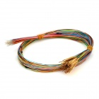 LSON 0.9mm Testing Probe Pins w/ Cables - Golden + Multicolored (100 PCS)