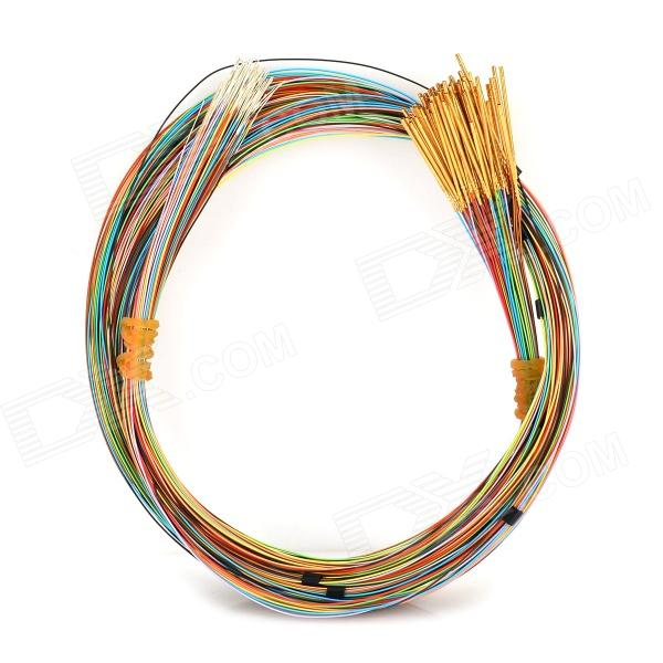 LSON PM50-E2 0.9mm Testing Probe Pins w/ Cables - Golden + Multicolored (100 PCS) lson p160 b 140g probe 100 pcs