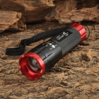 Ultra Fire AT-835 130LM LED Cool White Zoom-to-throw 3-mode Flashlight - Black + Red (3 x AAA)