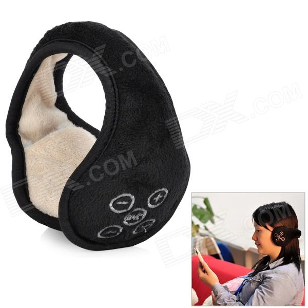 Warm Lint Cover Bluetooth Headset para PC del teléfono móvil / de la tableta - negro + Khaki