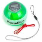 "SM007 0.8"" LCD Fitness Exercising Gyro Wrist Ball w/ LED / Counter - Green + White"