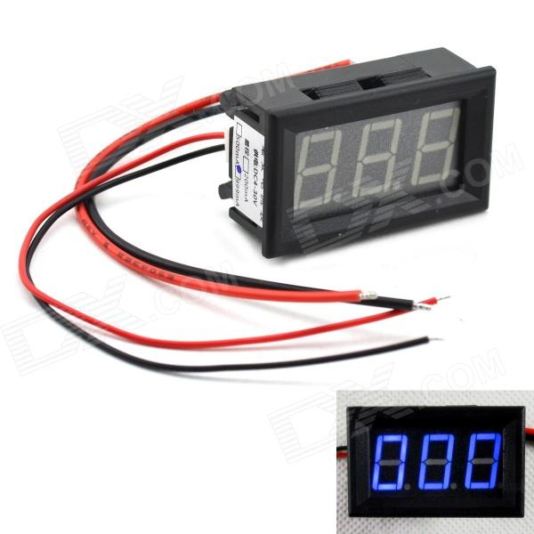 MaiTech 0.56 LED Blue Digit Display Amperemeter - Black (4~30V / 0~999mA) 4 digit red led digital amperemeter black dc 5v