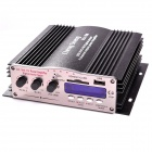 "Chengsheng MA200 1.8"" LCD 164W 4-CH Hi-Fi MP3 Amplifier w/ FM / SD / USB for Car / Motorcycle -Black"